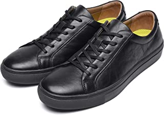 Mens Fashion Skate Sneakers Leather Sneakers for Men...