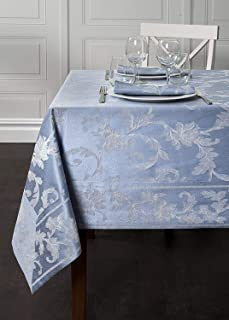 Harmony Scroll Tablecloth (Blue, 60