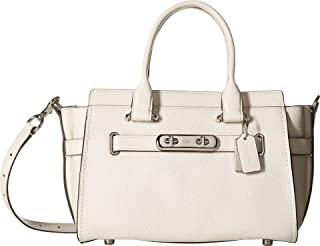 Women's Coach Swagger Carryall 27 In Pebble Leather Sv/Chalk One Size