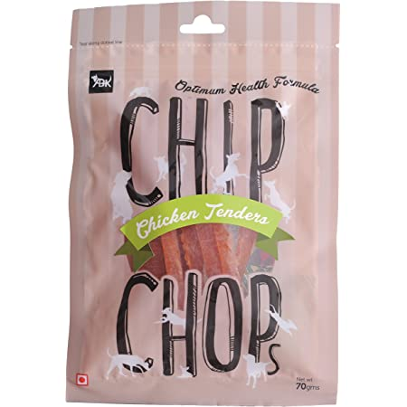 Chip Chops Chicken Tenders Slice, Dog Treat, 70g, Optimum Health Formula
