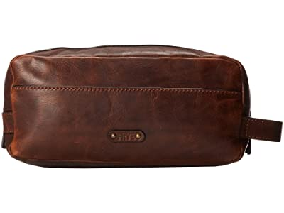 Frye Logan Travel Large Bag (Dark Brown Antique Pull Up) Toiletries Case