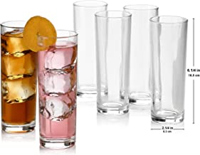 Set of 8 Highball Glasses, Cocktail Highball Glasses, Tall Drinking Glasses for Water, Juice, Cocktails, Beer and More, El...