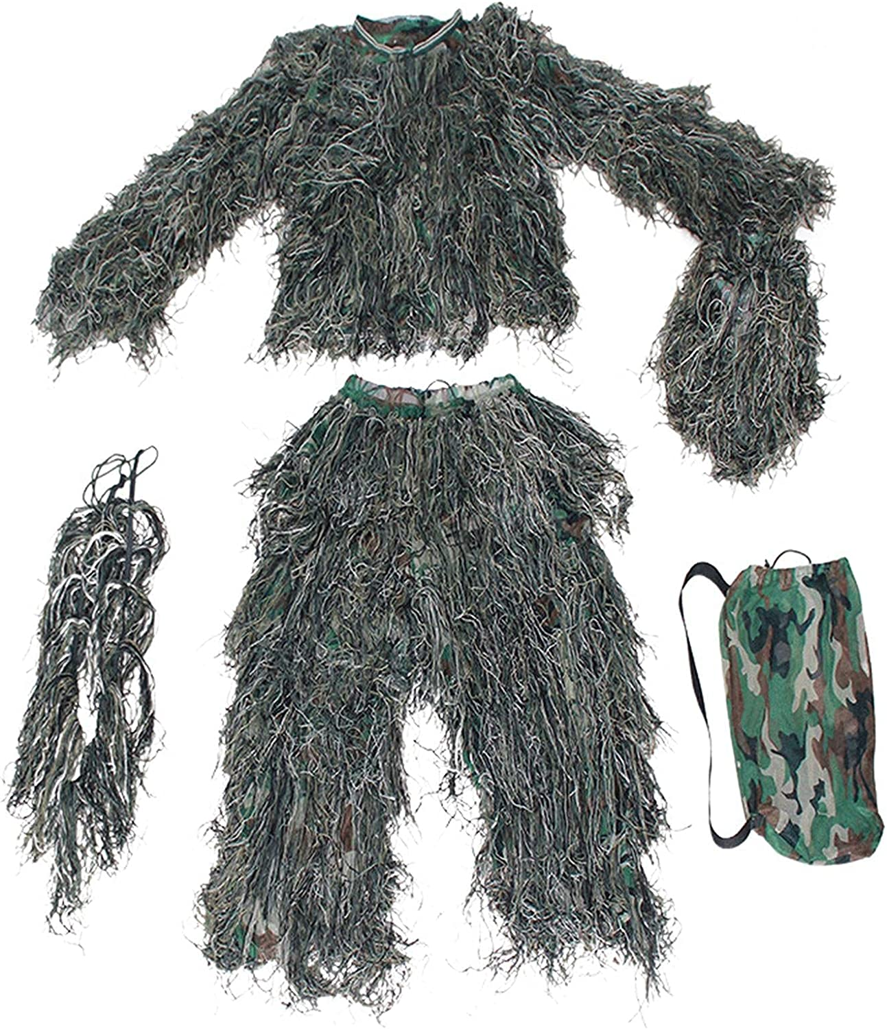 badewanne Hooded Ghillie Suit Camouflage Woodland Camo specialty shop Ranking integrated 1st place Clothing
