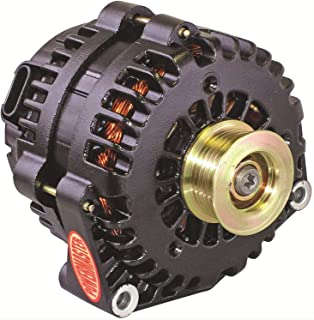 Powermaster Performance 58302 Black Alternator (AD244 215A 6 Groove Pulley with 2 pin OE Hookup PLFS)
