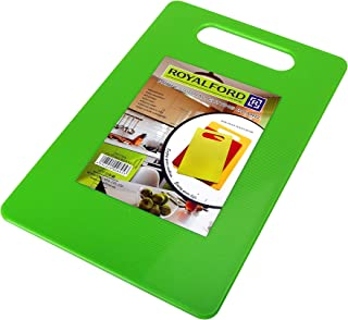Royalford Chopping Board - Cutting Board with Non-Slip Base- Perfect for Fruits & Vegetables -Hanging Hole for Easy Storag...