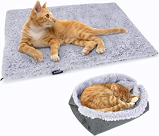 Pedy Foldable Pet Bed - Furry Washable Dog Bed & Cozy Mat for Small/Medium Dogs and Cats