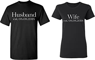 Husband - Wife Personalized Couple Matching Shirts Married Custom Valentines Day