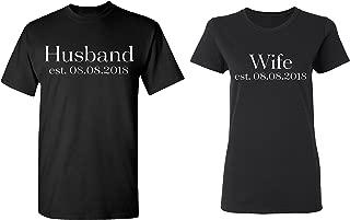 husband and wife matching shirts