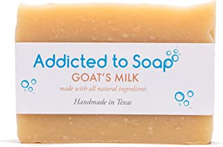 Addicted to Soap – Pine Tar Soap | Mens Soap Bar – Black Soap with Natural Organic Olive & Coconut Oils – Best Soap for Men Guaranteed Handmade in Texas Body Hand Soap Bar (Goats Milk Soap)