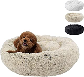 Mumoo Bear Fluffy Luxe Pet Bed for Dogs & Cats, Beige - 23""