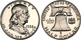 1958 GEM PROOF (PR63 PLUS) - FRANKLIN HALF DOLLAR 1/2 Proof US Mint