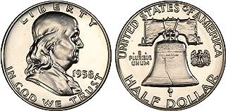 1958 GEM PROOF (PR63 PLUS) - FRANKLIN HALF DOLLAR 1/2 Proof US Mint