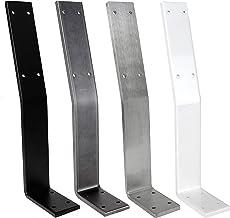 1x Natural Goods Berlin Rugleuninghouder | zwart, wit, industrieel en roestvrij staal | probleemloze bevestiging van rugle...