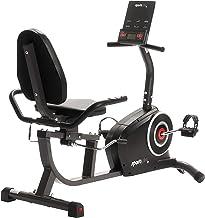 SportPlus SP-RB-9500-iE Bicicleta Estática, Asiento Reclinable, Ordenador, Diferentes Niveles y Sensores de Pulso, Compatible con CardioFit, Google Street View y KinoMap