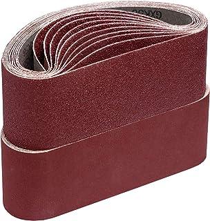 Schuurbanden, 75 x 533 mm elk 5 x korrel 40/60/80/120/180 voor bandschuurmachines schuurpapier schuurband set 25 stuks