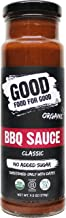 Good Food For Good Organic Classic BBQ Sauce, No Added Sugar Keto Sauce, Refined Sugarfree; Vegan/Paleo/Non GMO/Gluten Free/Low Salt/Soy Free/Corn Free; Naturally Sweetened with Dates (9.5oz)