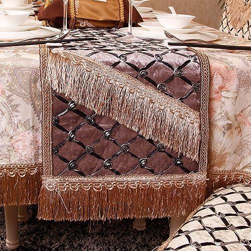 European-style Luxus Tischl er Tischtuch Westlichen Tischdecke Mode Coffee Table Runner-B 33x240cm(13x94inch)