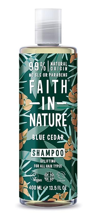 影響アラーム武装解除男性青杉のシャンプー400ミリリットルのための自然の中で信仰 - Faith in Nature for Men Blue Cedar Shampoo 400ml (Faith in Nature) [並行輸入品]
