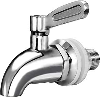 Updated More Durable Beverage Dispenser Replacement Spigot,Stainless Steel Polished Finished, Water Dispenser Replacement Faucet, fits Berkey and other Gravity Filter systems as well