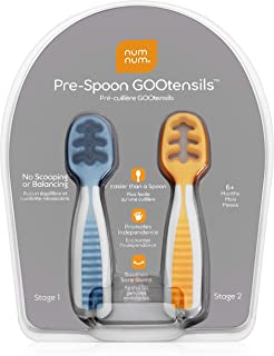 NumNum Pre-Spoon GOOtensils | Baby Spoon Set (First Stage + Second Stage) | BPA Free..