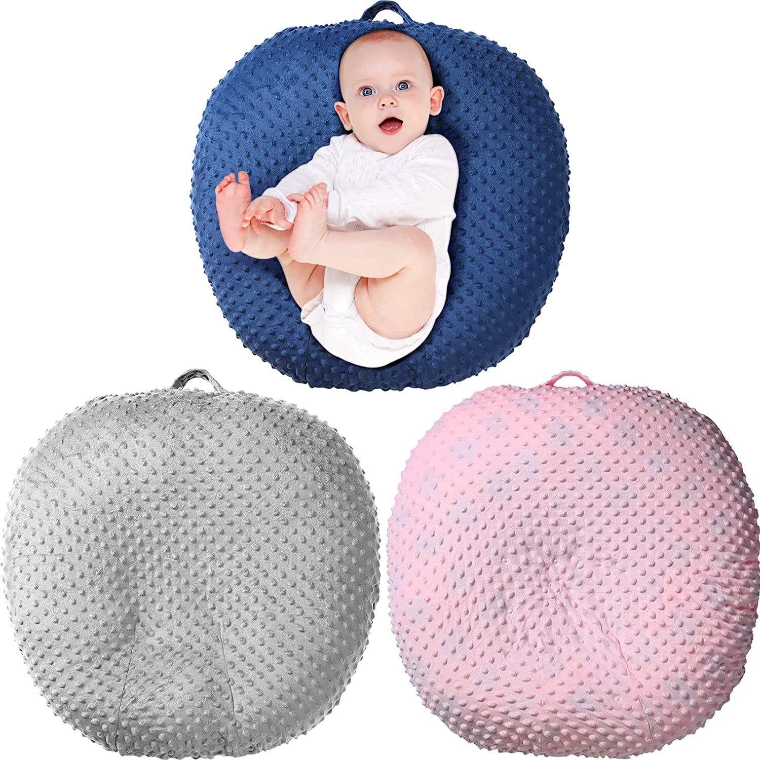 3 Pieces Newborn Lounger Cover Soft Infant Lounger Slipcover Baby Lounger Pillow Cover Removable Infant Lounger Pillow Case for Boys and Girls