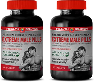 Male Enhancing Pills Increase Size and Girth - Extreme Male Pills - longjack Extract supplemets - 2 Bottles 120 Tablets