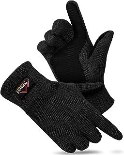 NEU 1 Paar Handschuhe Gloves Fingerhandschuhe uni schwarz weiß Norweger Gr.L//XL
