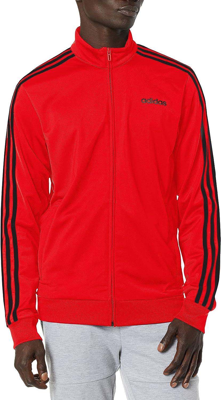 adidas Men's 高額売筋 Essentials 3-Stripes Tricot タイムセール Track Jacket