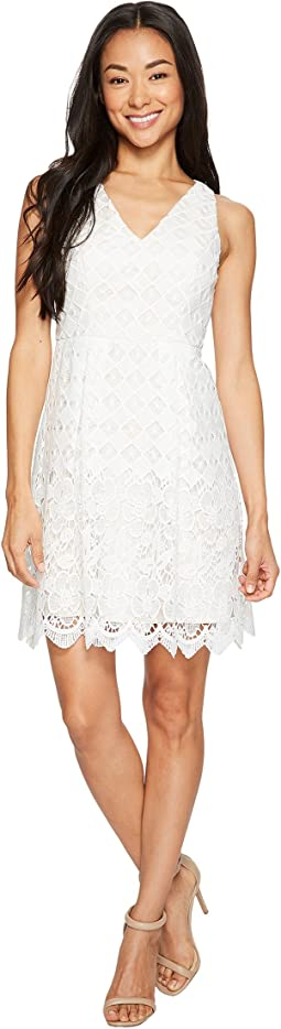 Adrianna Papell - Petite Lace Fit and Flare