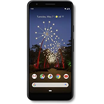 Google Pixel 3a Smartphone (G020E) GSM Unlocked + Verizon - 64GB / Just Black (Renewed)