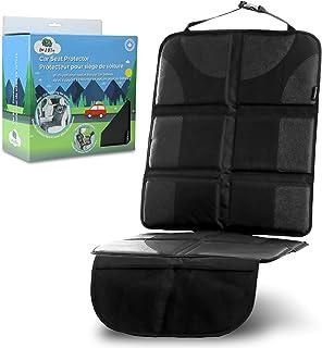 Leo&Ella Car Seat Protector with Thick Padding & Rear Facing Ipad Holder - Premium XL Size Auto.