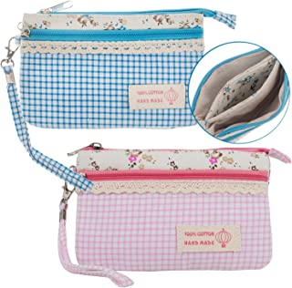 Set / Kit / Lot of 2pcs Make Up Tools and Makeup Cosmetics Bags / Travels Toiletry Cases / Wallets / Stationery Pouches / Pens and Pencils Organizers / Holders / Purses