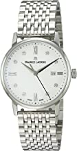 Maurice Lacroix Women's Eliros Swiss-Quartz Watch with Stainless-Steel Strap, Silver (Model: EL1094-SS002-150-1)