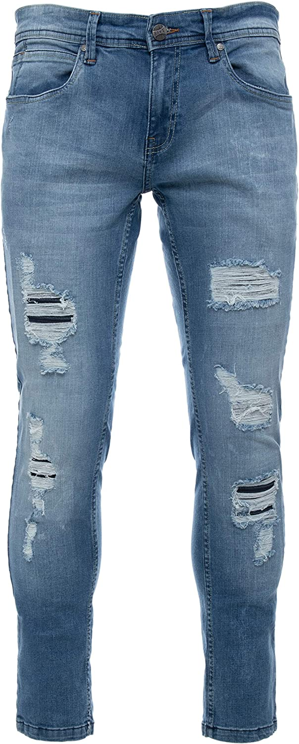 RAW X Men's Skinny Ranking TOP7 Fit Distress Jeans Brand new Stretch Destroyed Fashion