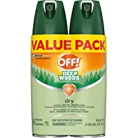 2-Count OFF! Deep Woods Insect Repellent VIII Dry 4 oz.