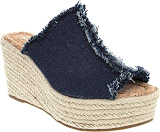 Women's Hannah Espadrille Wedge Slide Sandal with Knotty Bow Detail