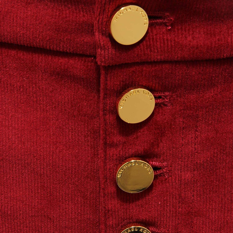 Michael Kors 6418AB Pantalone Donna velluto Velvet Red Trouser Woman Rouge