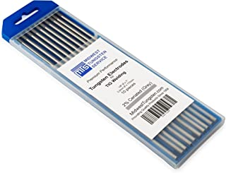 "TIG Welding Tungsten Electrodes 2% Ceriated (Grey, WC20) 10-Pack (1/8"")"