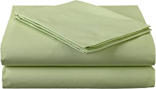 American Baby Company 100% Natural Cotton Percale Toddler Bedding Sheet Set, Celery, 3 Piece, Soft Breathable, for Boys and Girls