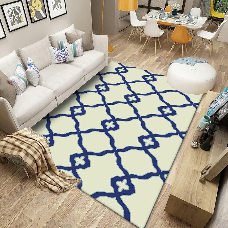 Sacramento Mall Geometric Printed OFFer Carpet Living Room Anti-Slip for Hall Carpets