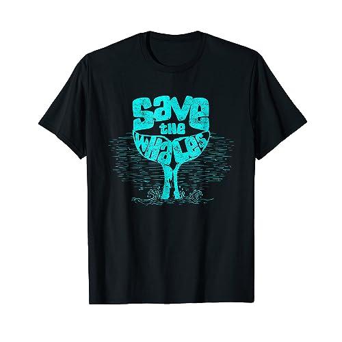 46814bd9a Save the Whales Vintage Retro T Shirt