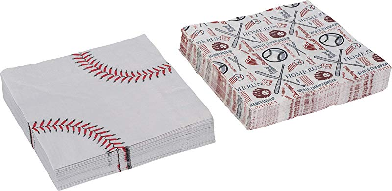 Baseball Theme Napkins Tableware Birthday Party Supplies Perfect For Game Day Tailgating Sports Events Family Dinner And Birthday Parties 80 Pack