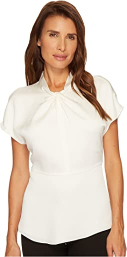 Vince Camuto - Drop Shoulder Twist Mock Neck Blouse