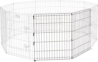 Universal Pet Playpen 2-Panel Extension Kit | Fits Metal 30-Inch Dog Pens | Kit Measures 30H x 47.50W Inches | Includes 4 ...