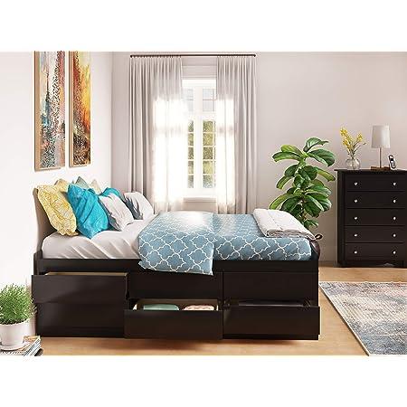 Prepac Captain S Platform Storage Bed With 12 Drawers Queen Black Furniture Decor