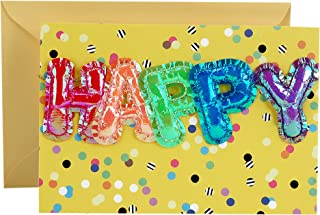 Hallmark Signature Birthday Card (Mylar Balloons)