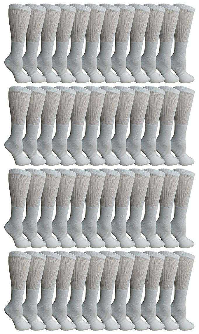 Yacht & Smith Mens & Womens Wholesale Bulk Sports Crew, Athletic Case Pack Socks, by SOCKS'NBULK
