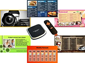 doPublicity 4K Digital Signage & Menu Board - No Monthly/Annual Fee - 2,000+ Templates for Restaurant Menu Boards, Advertising, Corporate Messaging, Product, Weather on HD / 4K TV