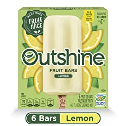 OUTSHINE Lemon Frozen Fruit Bars, 6 Ct. Box | Gluten Free | Non GMO