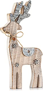 Zilo Novelties Reindeer Decor | Farmhouse Holiday Display Set for Mantle, Centerpiece or Table (Large)